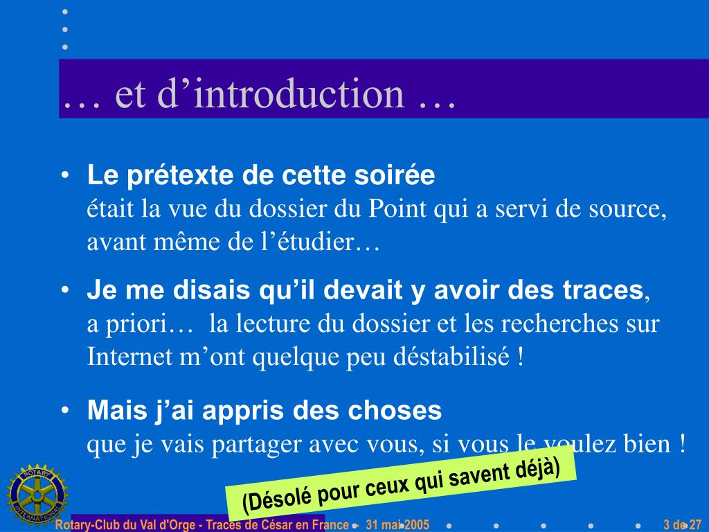 … et d'introduction …
