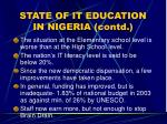 state of it education in nigeria contd16