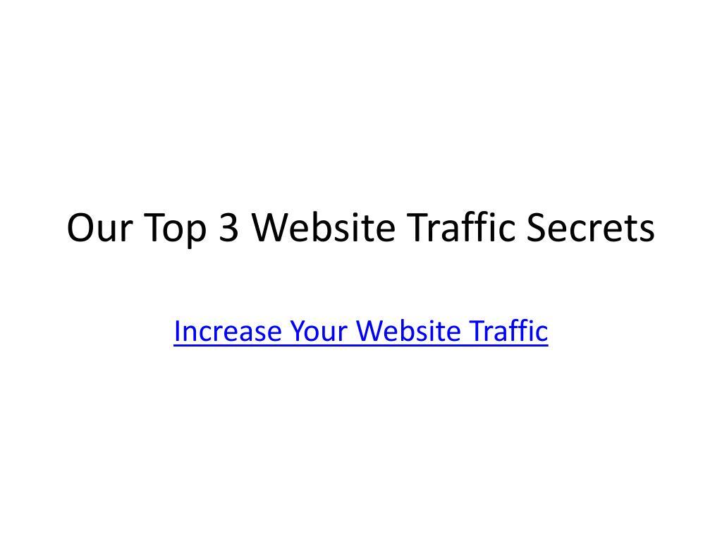 Our Top 3 Website Traffic Secrets