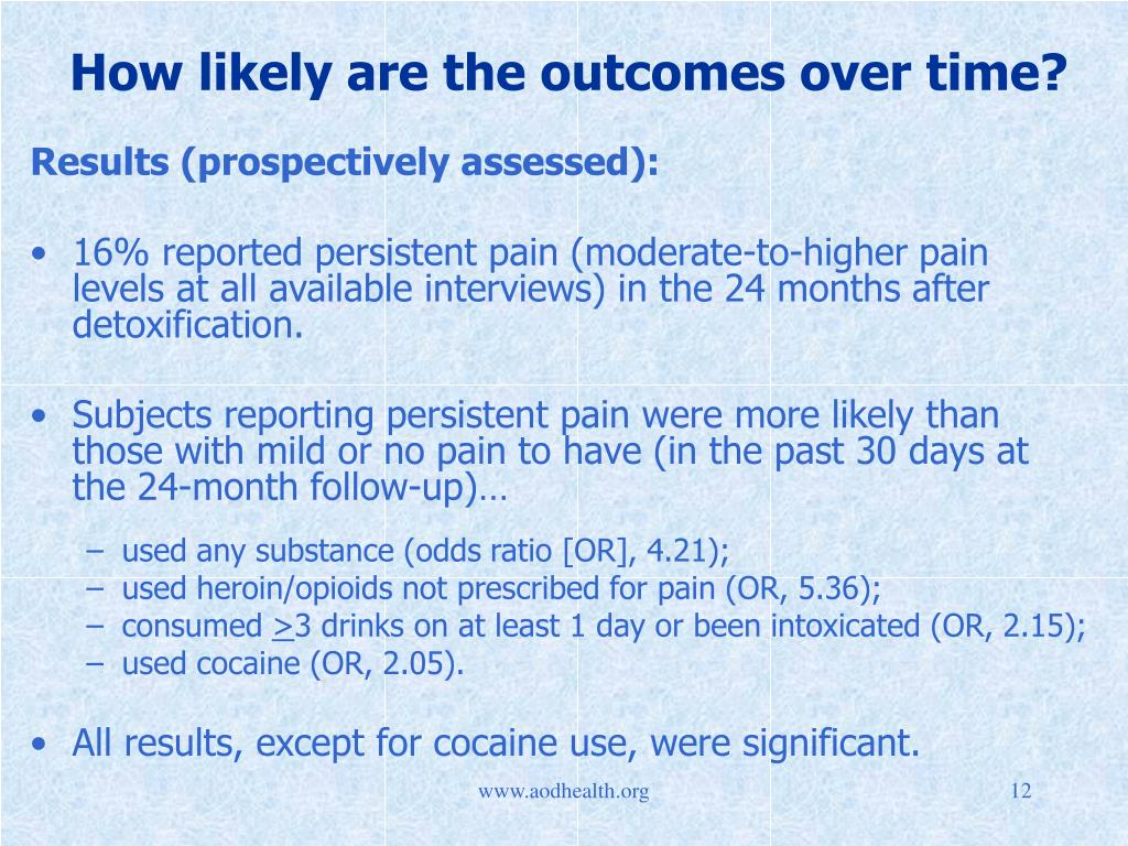 How likely are the outcomes over time?