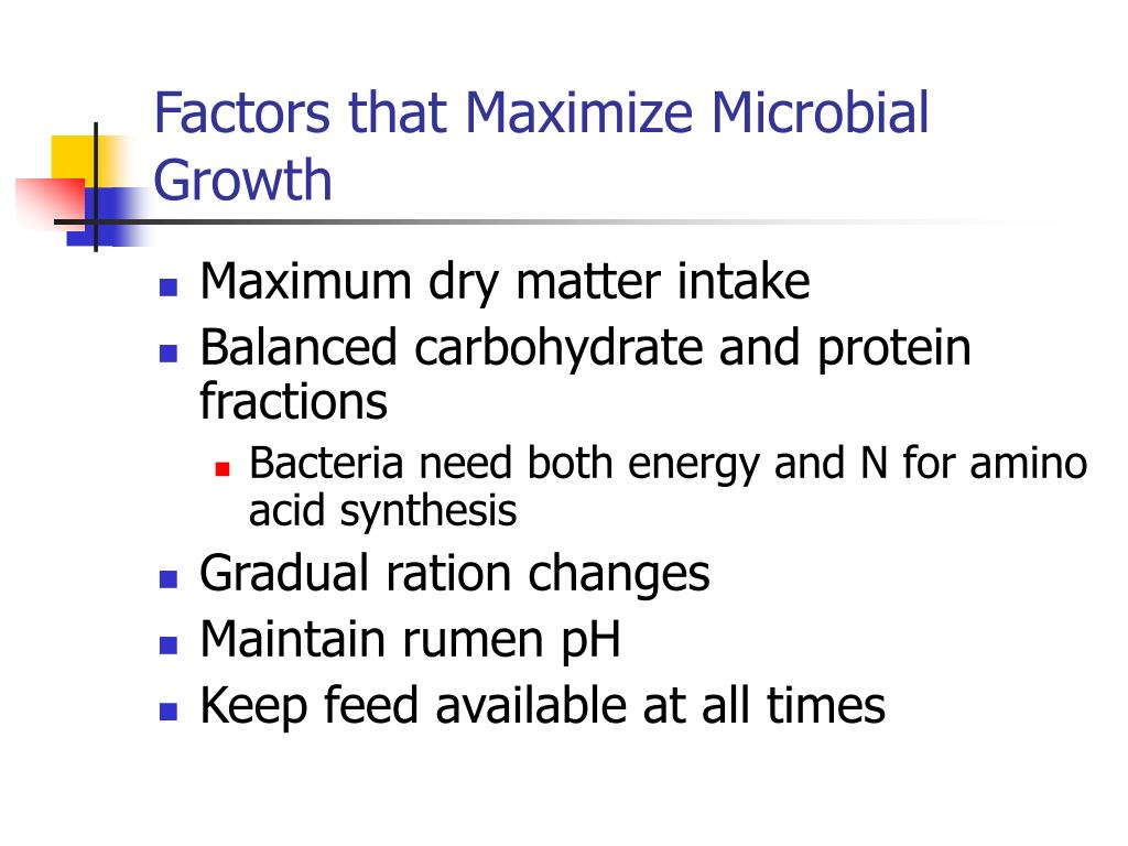 Factors that Maximize Microbial Growth