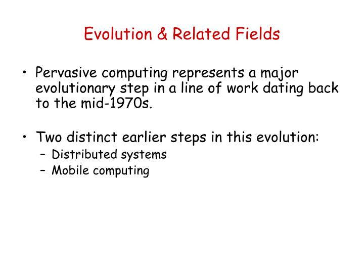 Evolution & Related Fields