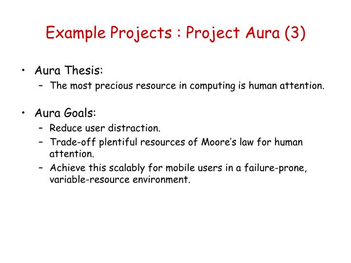 Example Projects : Project Aura (3)