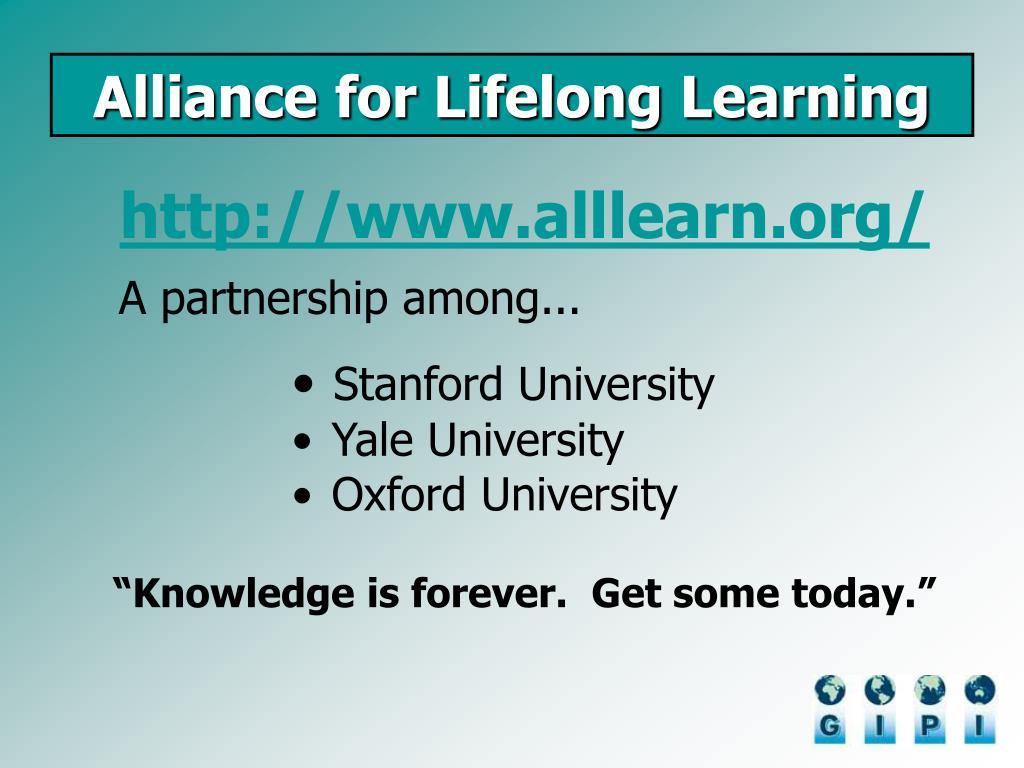 Alliance for Lifelong Learning