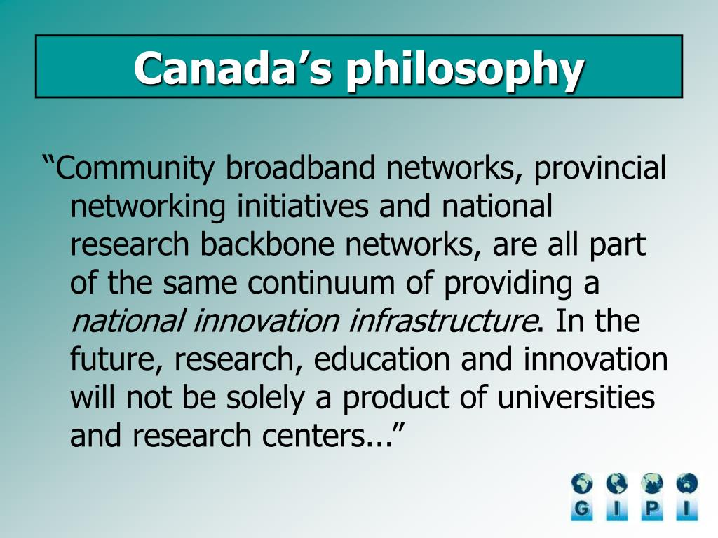 Canada's philosophy