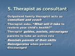 5 therapist as consultant