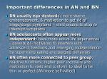 important differences in an and bn