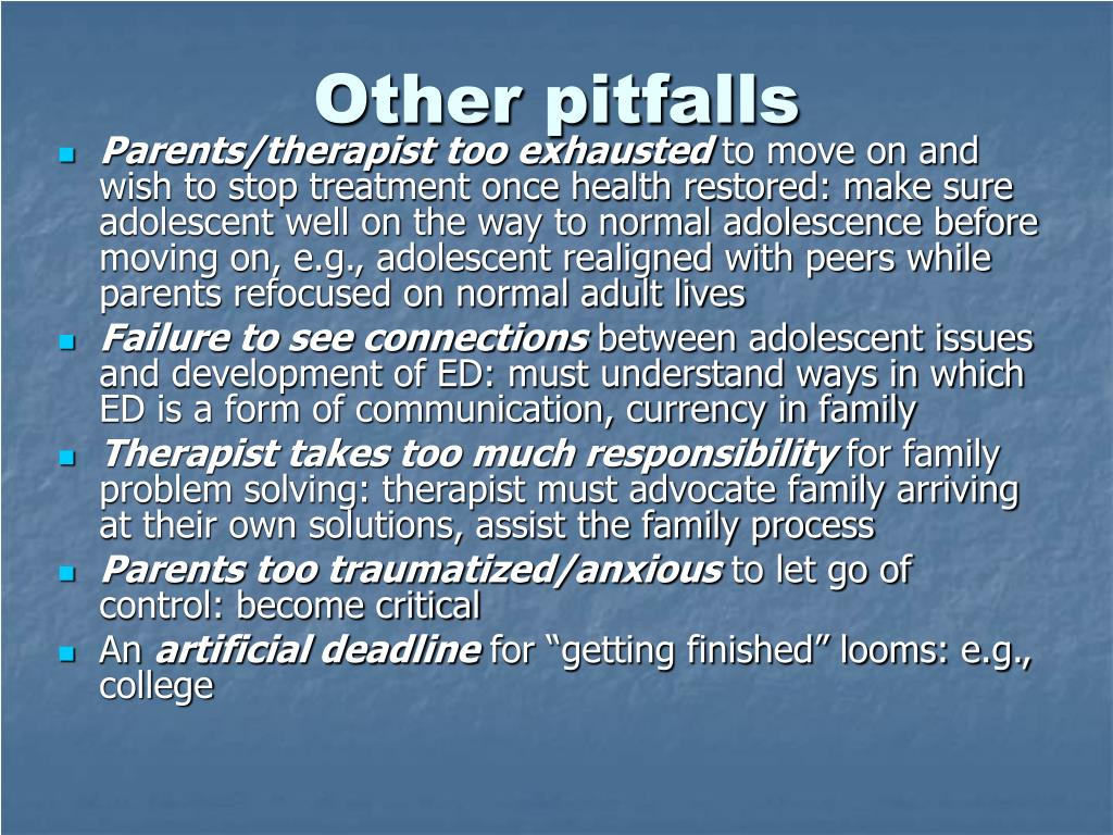 Other pitfalls