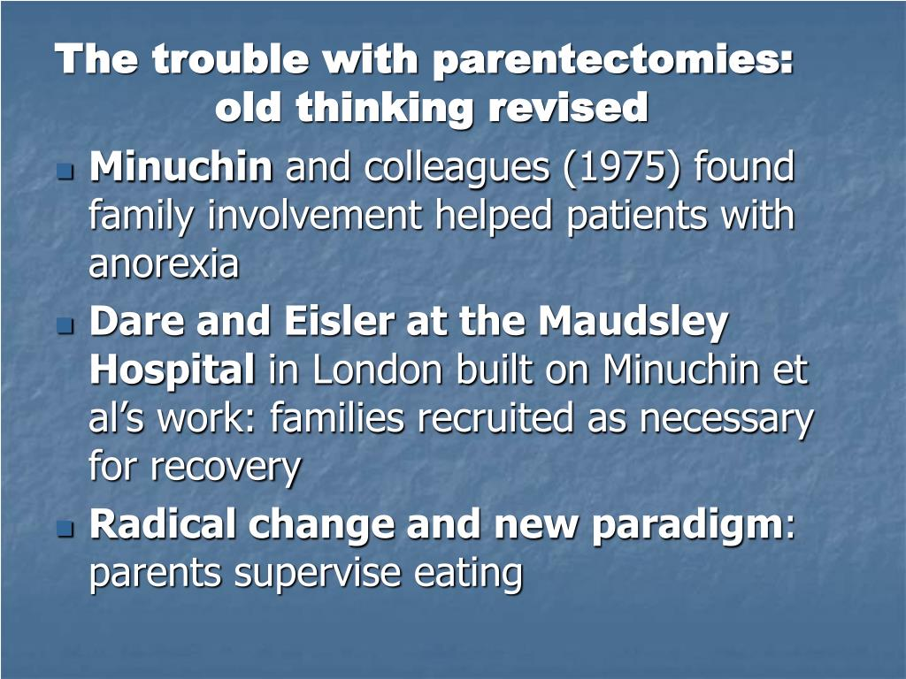 The trouble with parentectomies: