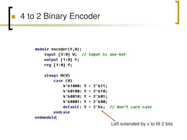 4 to 2 Binary Encoder