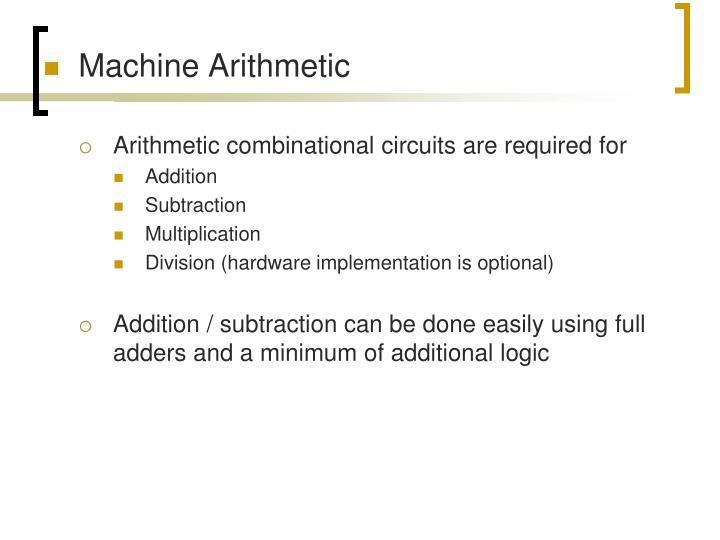 Machine Arithmetic