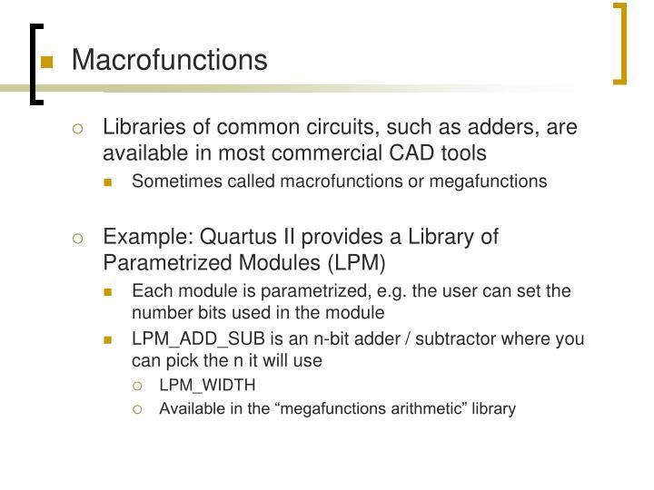 Macrofunctions