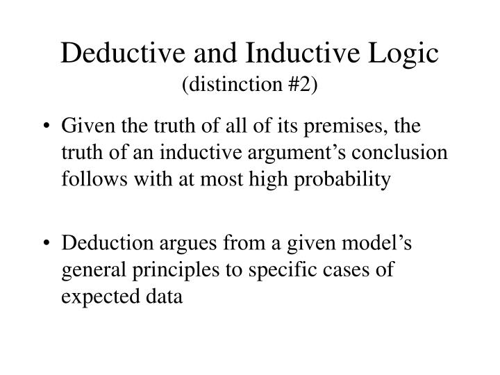Deductive and Inductive Logic
