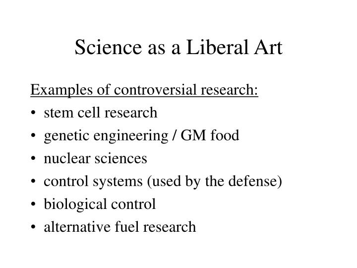Science as a Liberal Art
