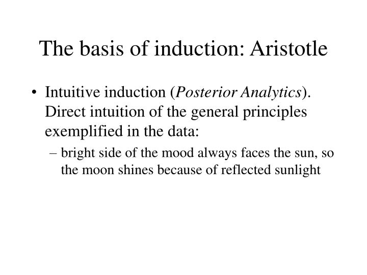 The basis of induction: Aristotle