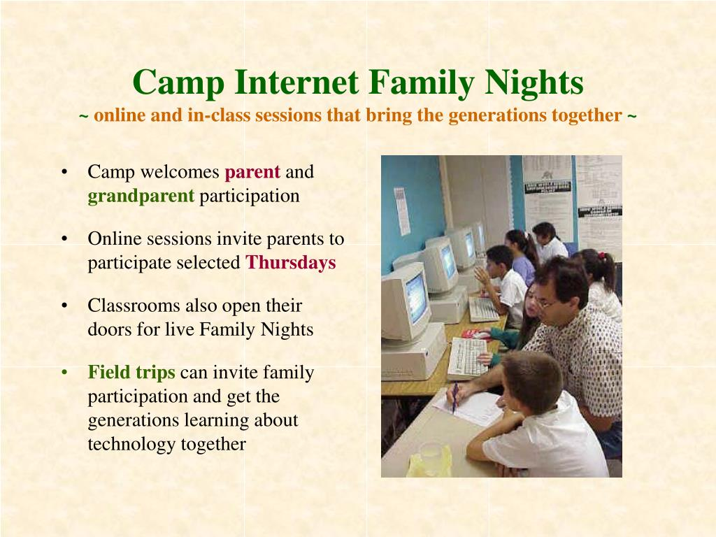 Camp Internet Family Nights