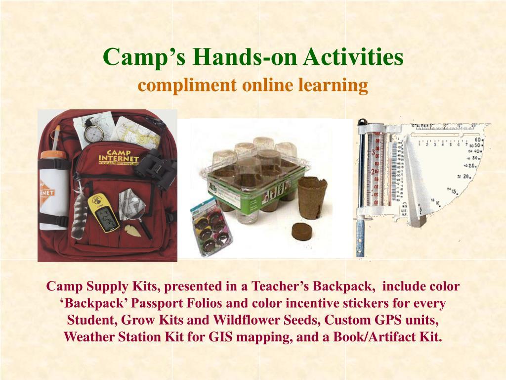 Camp's Hands-on Activities