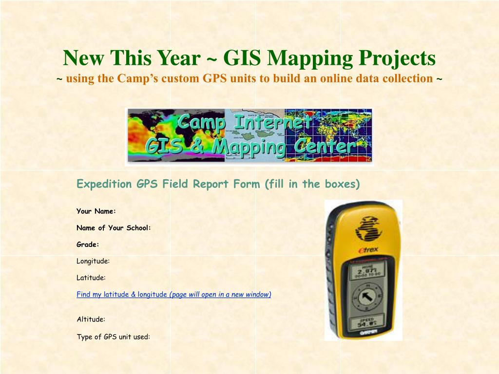 New This Year ~ GIS Mapping Projects