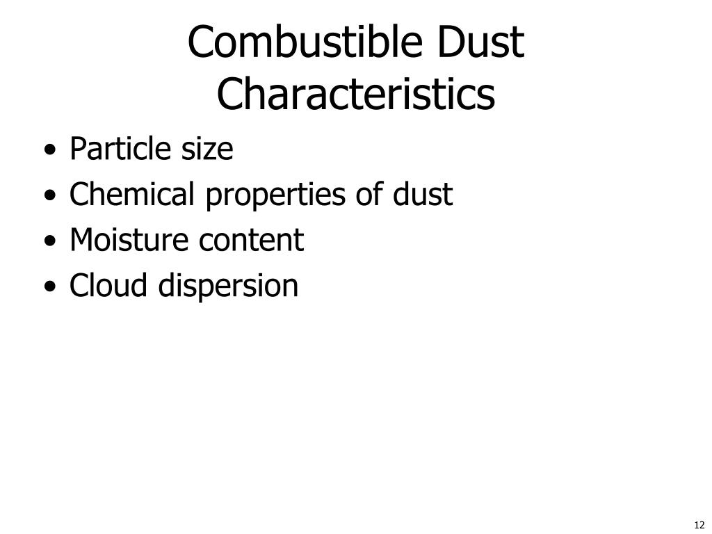 Combustible Dust Characteristics