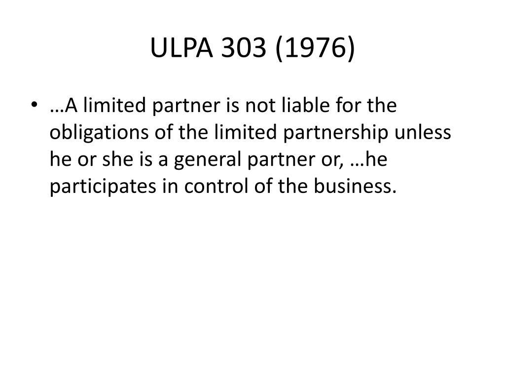 ULPA 303 (1976)