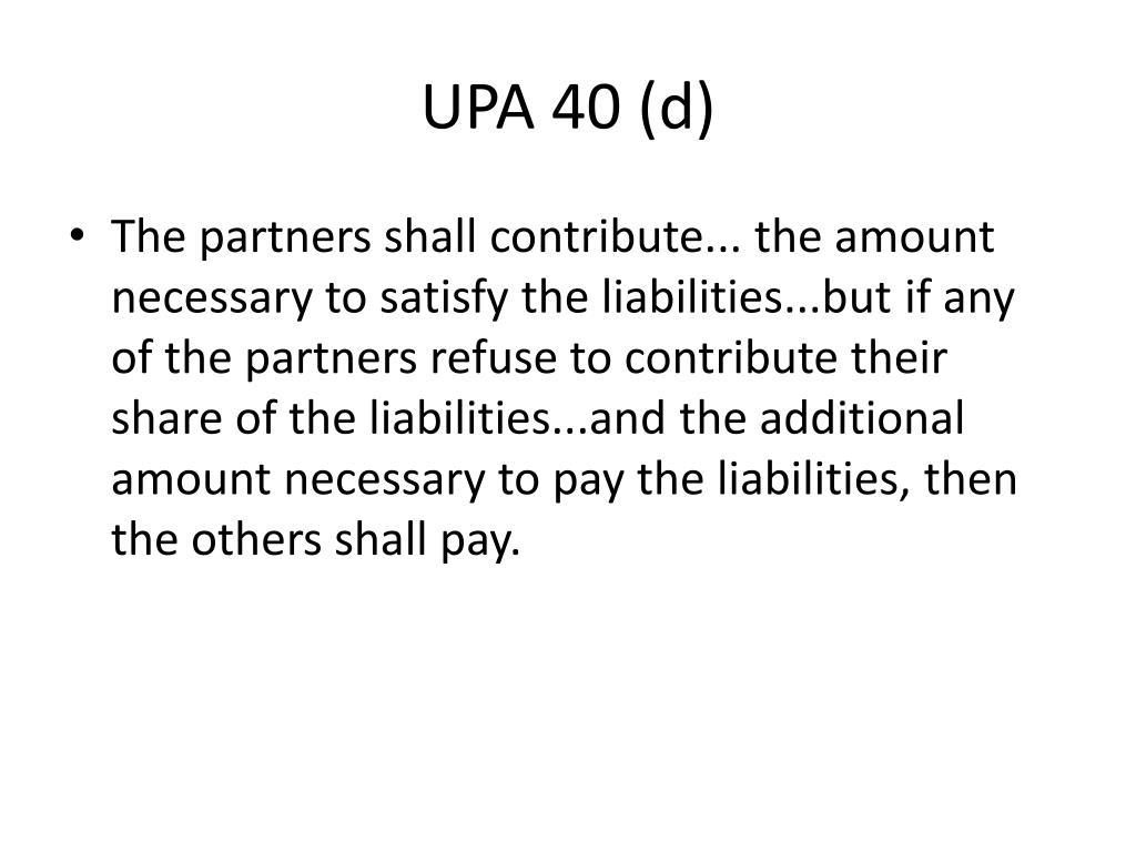 UPA 40 (d)