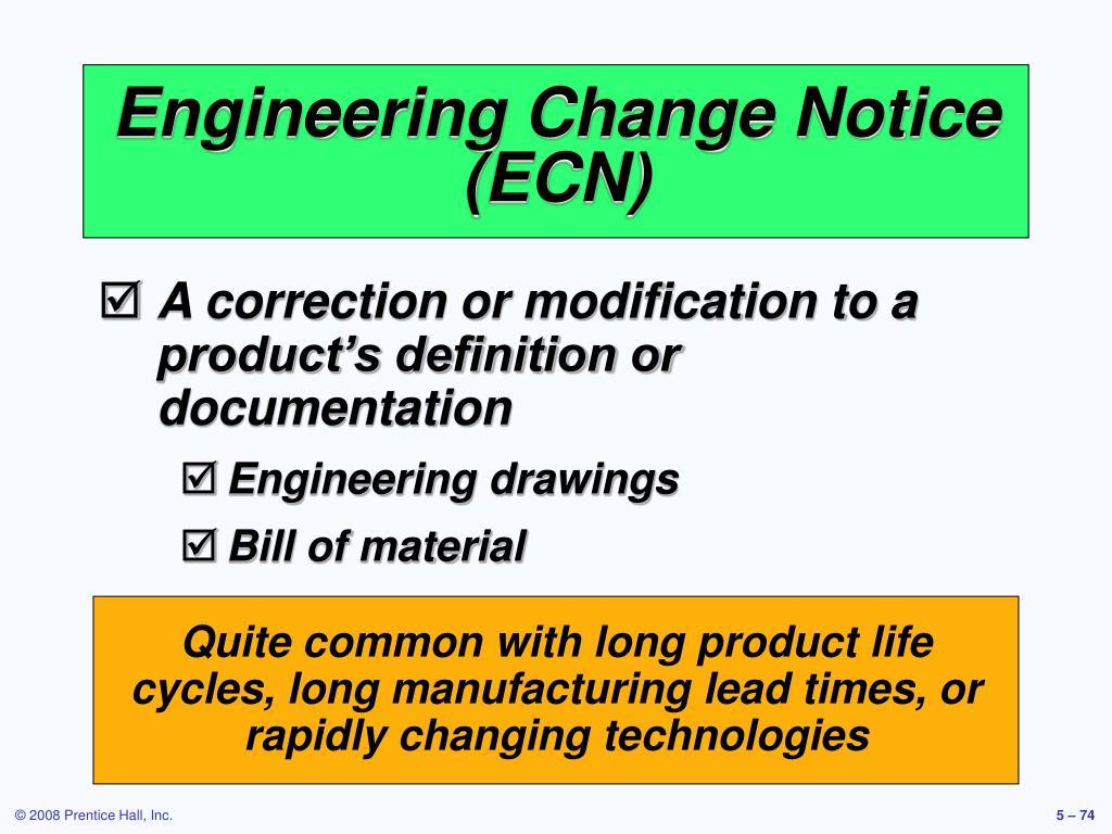 Engineering Change Notice (ECN)
