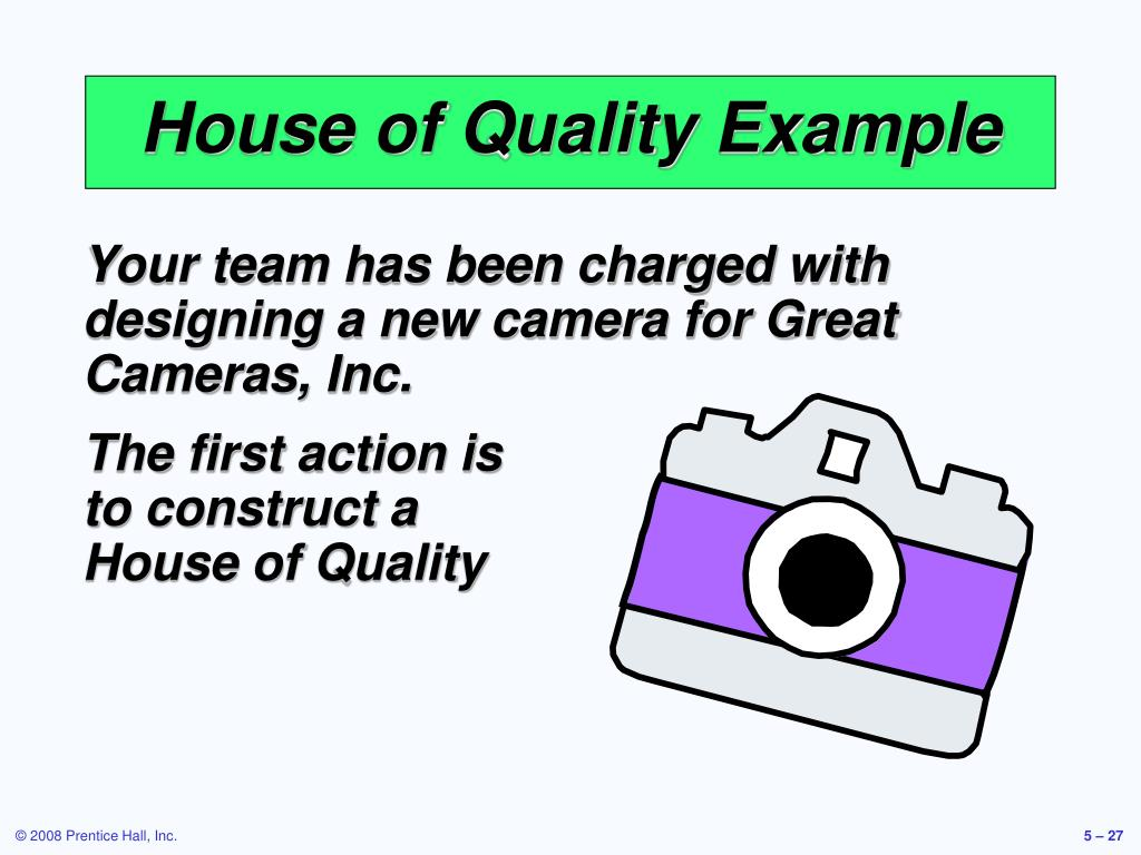 House of Quality Example
