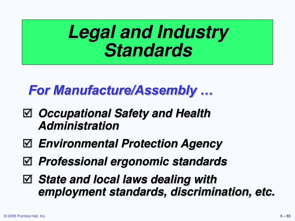 Legal and Industry Standards