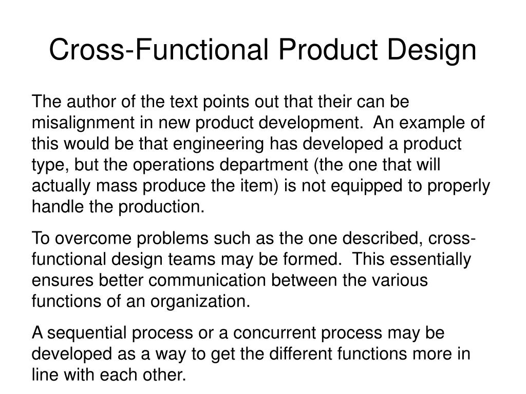 Cross-Functional Product Design
