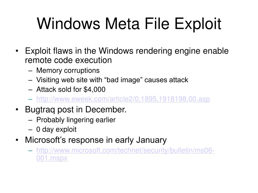 Windows Meta File Exploit
