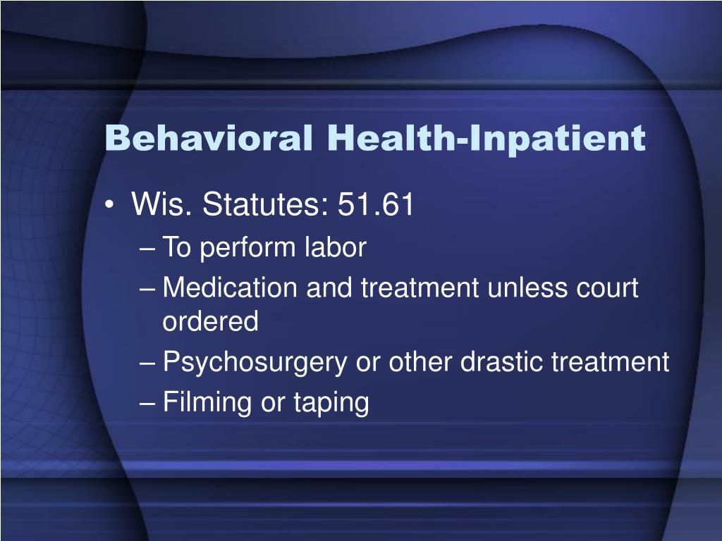 Behavioral Health-Inpatient