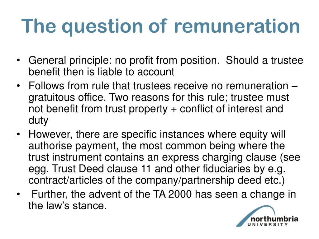 The question of remuneration