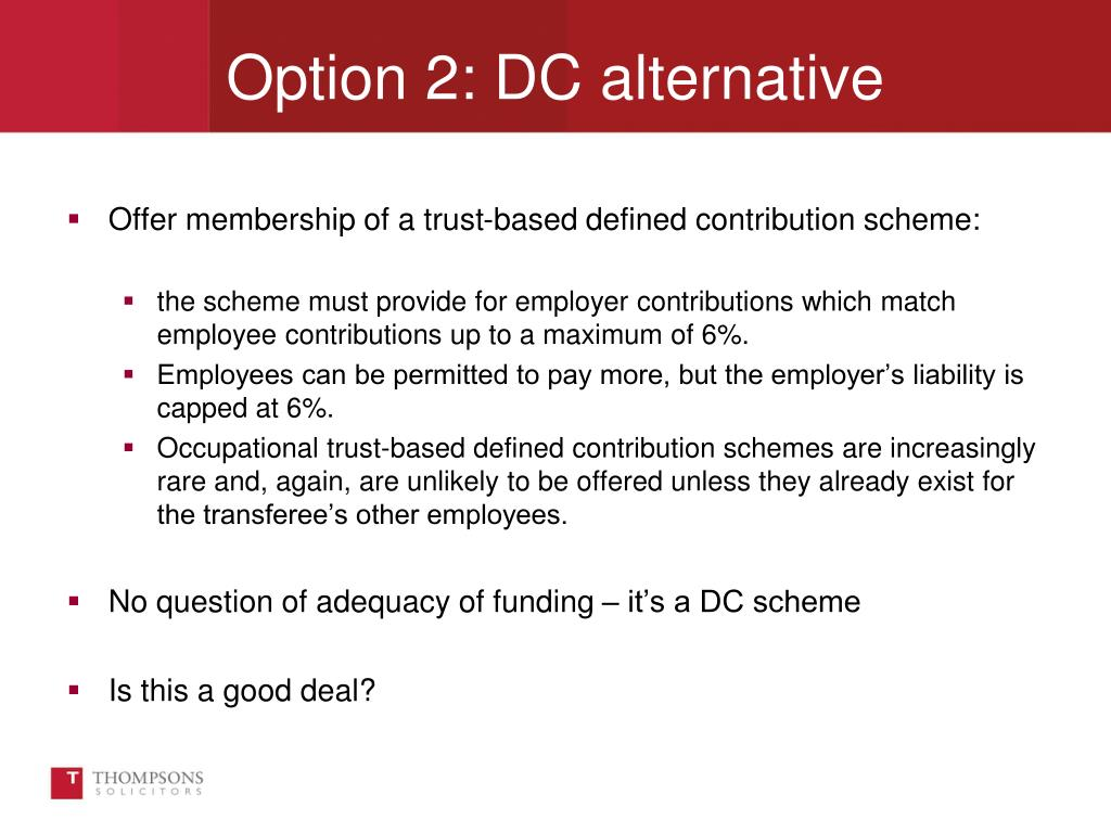 Offer membership of a trust-based defined contribution scheme: