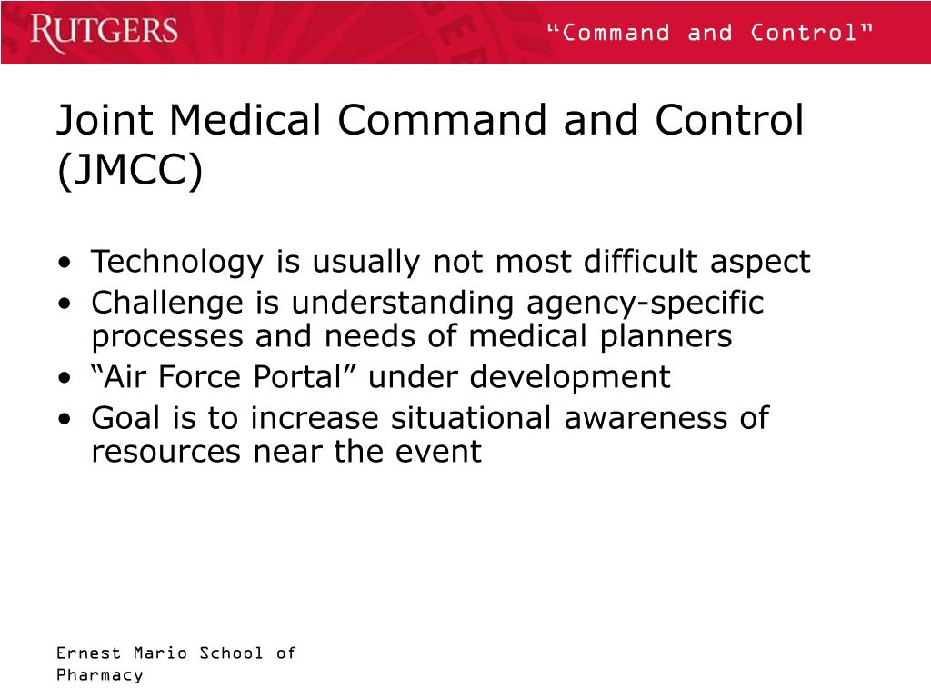 Joint Medical Command and Control (JMCC)