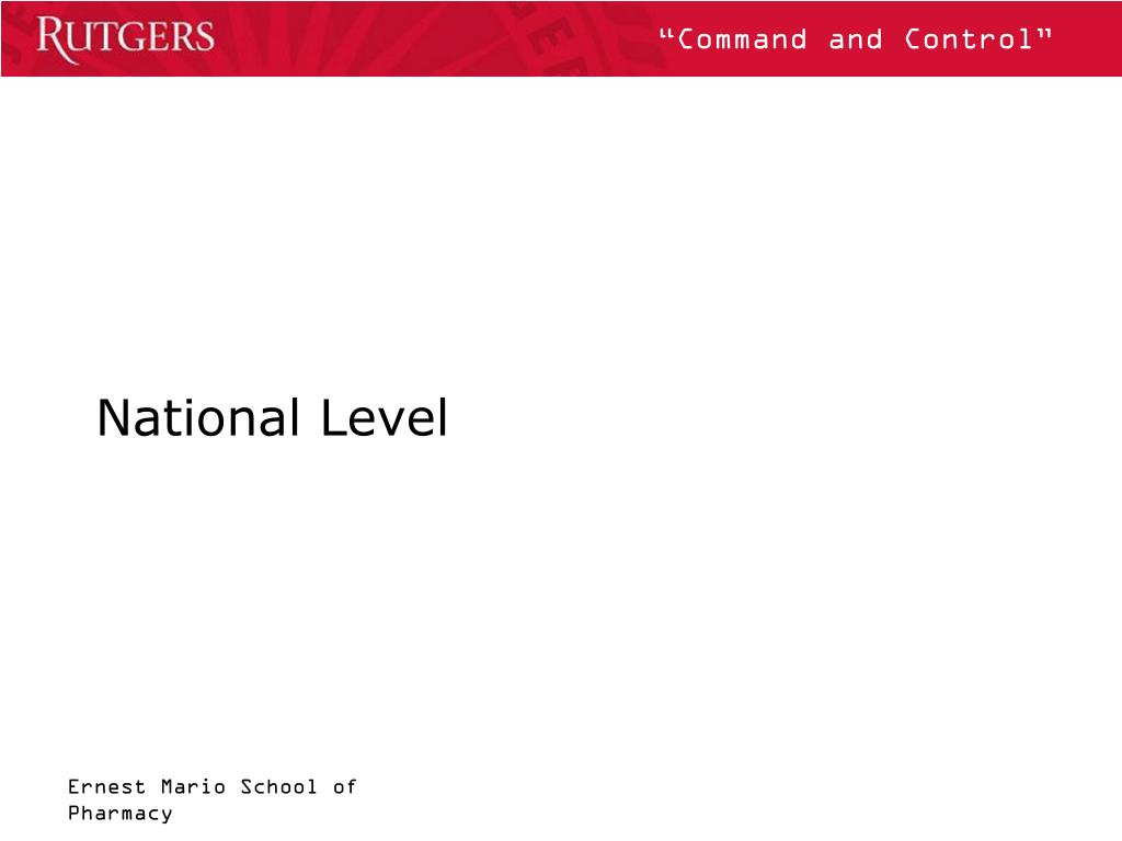National Level