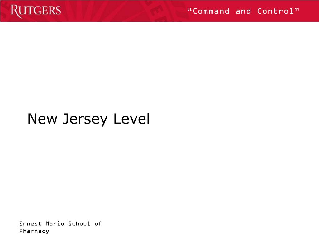 New Jersey Level