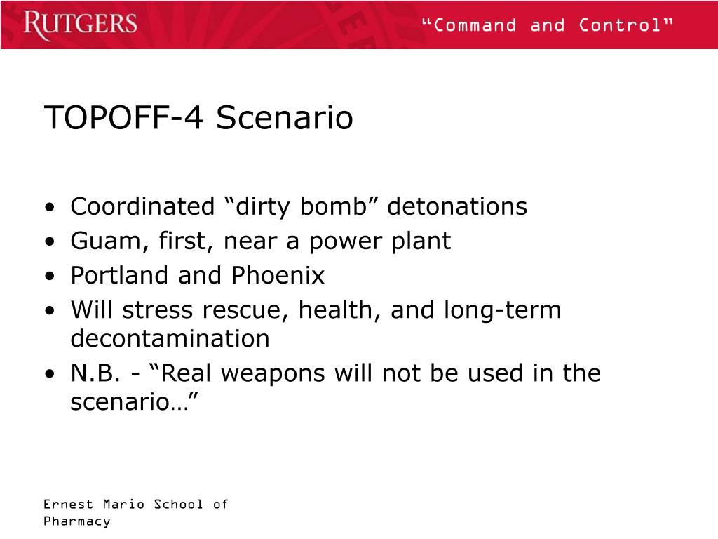 TOPOFF-4 Scenario