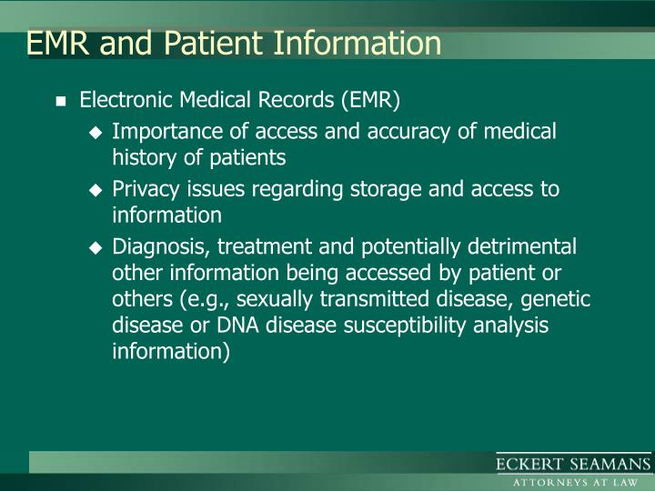EMR and Patient Information