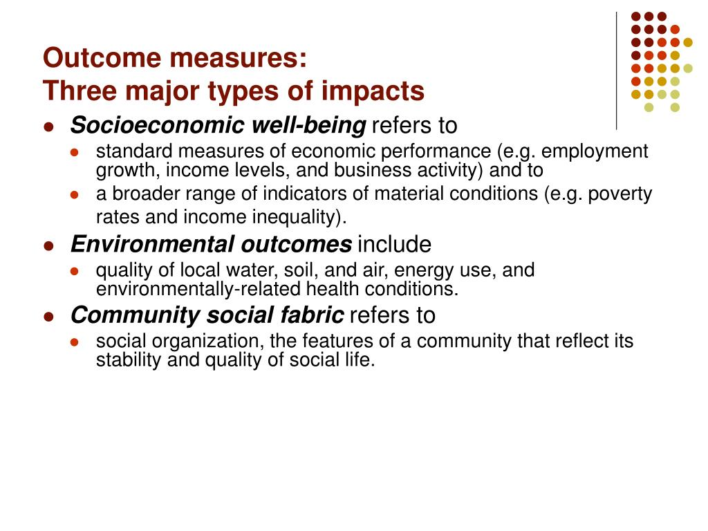Outcome measures: