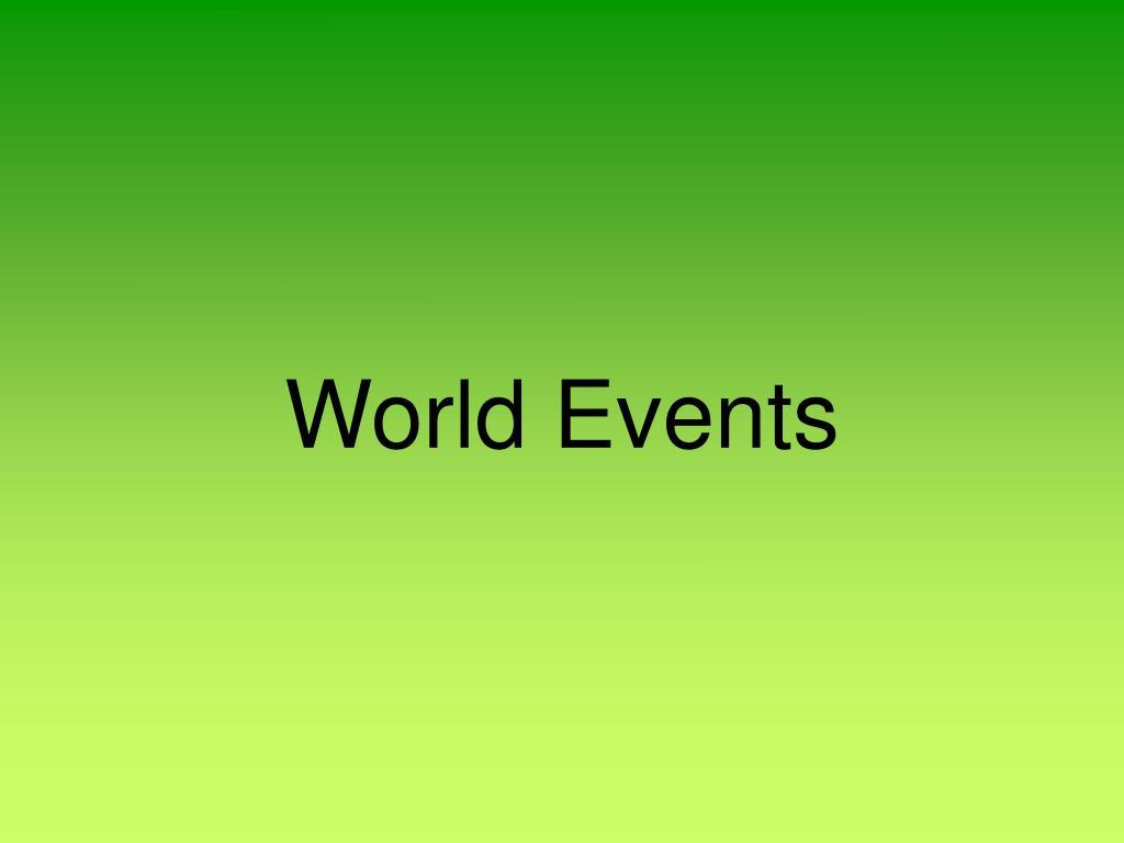 World Events