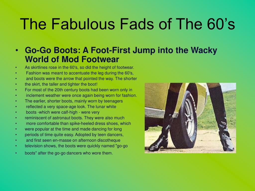 The Fabulous Fads of The 60's