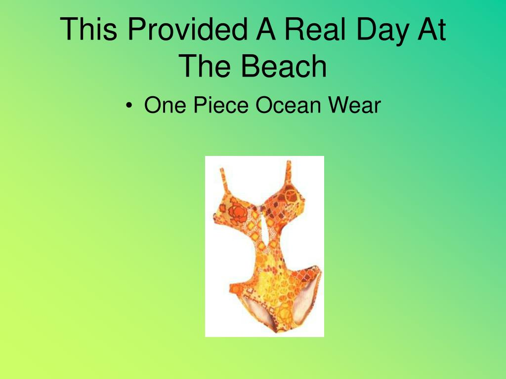 This Provided A Real Day At The Beach