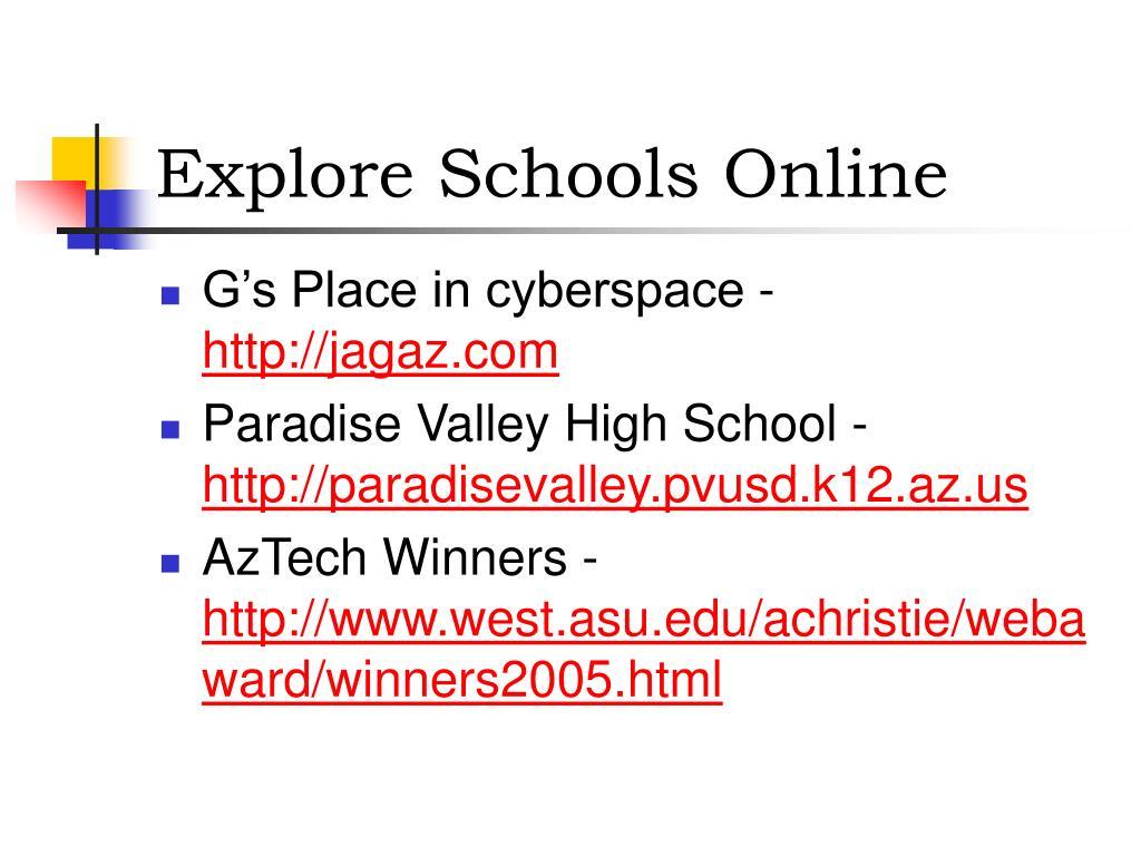 Explore Schools Online
