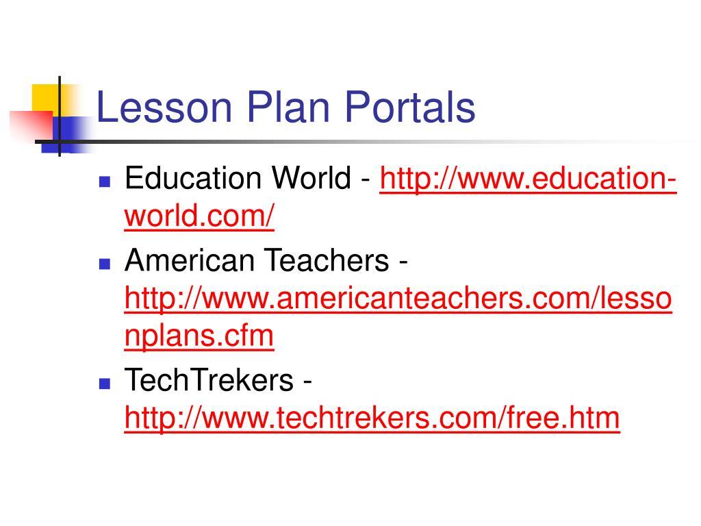 Lesson Plan Portals