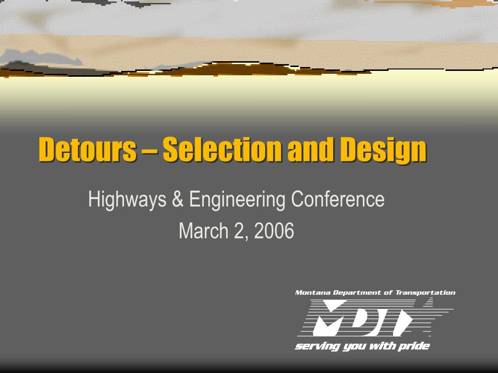 Detours – Selection and Design