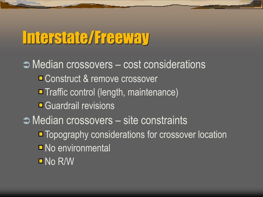 Interstate/Freeway