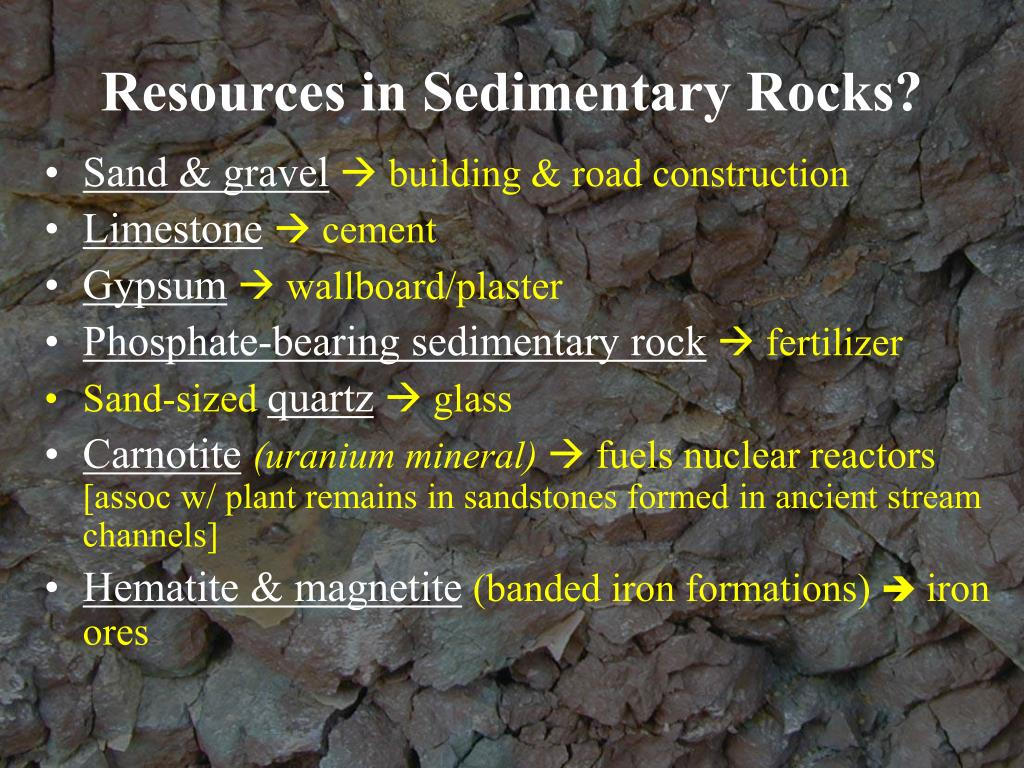 Resources in Sedimentary Rocks?
