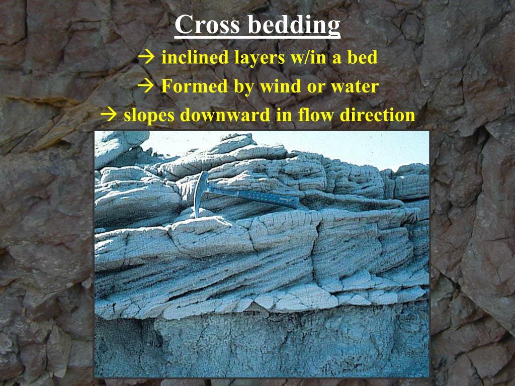Cross bedding