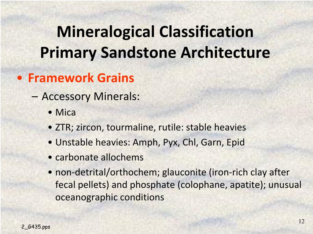 Mineralogical Classification