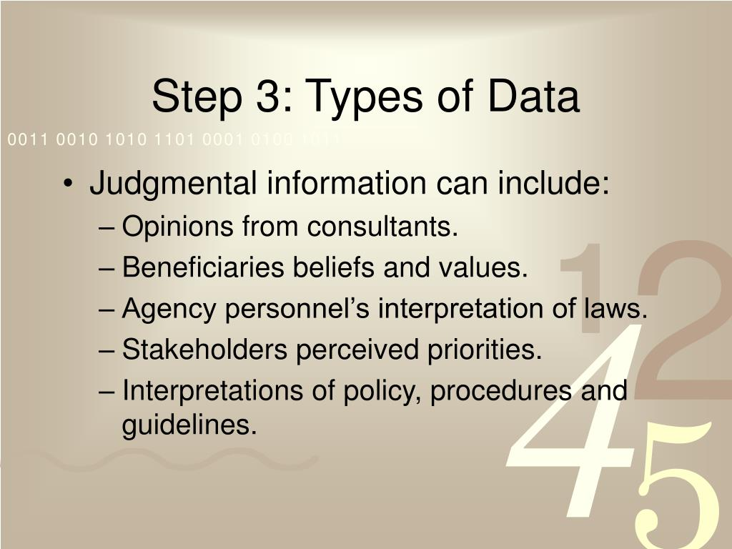 Step 3: Types of Data